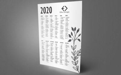 Letölthető 2020-as falinaptár